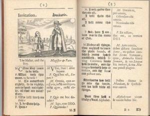 Nell'Orbis Sensalium Pictus, il maestro invita il giovane allievo a conoscere il mondo, nominando e mostrando tutte le cose.
